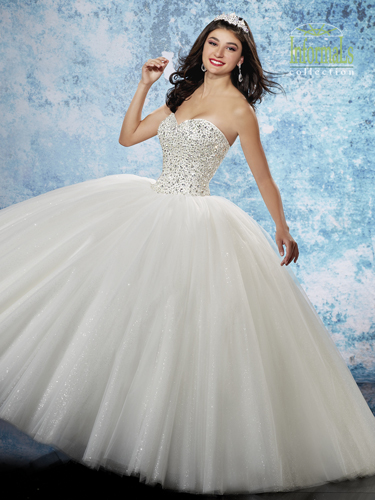 White Color Bridal Ball Gowns - Style - 2B800