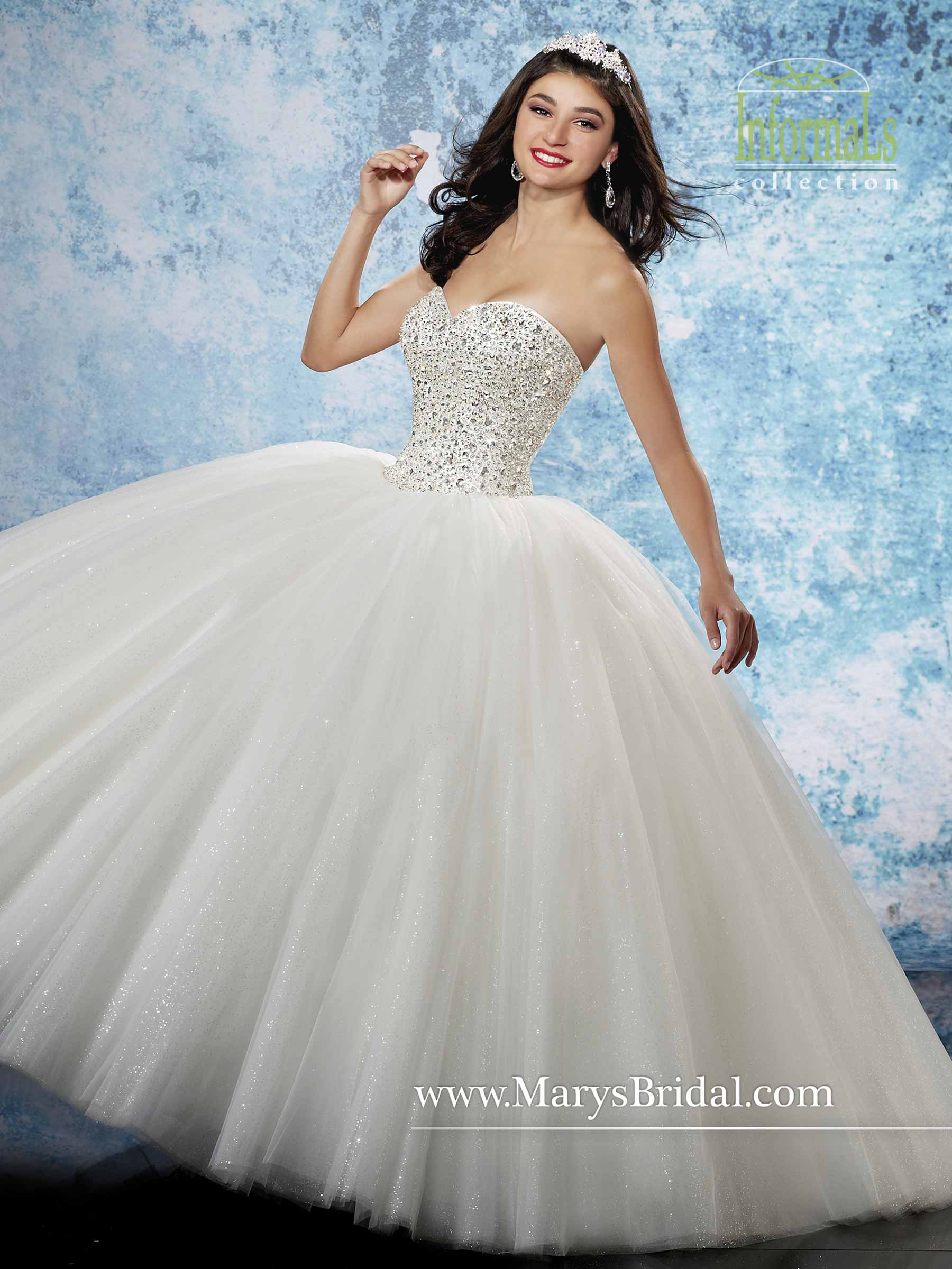Bridal Ball Gowns | Style - 2B800 in Light Blue, Ivory, or White Color