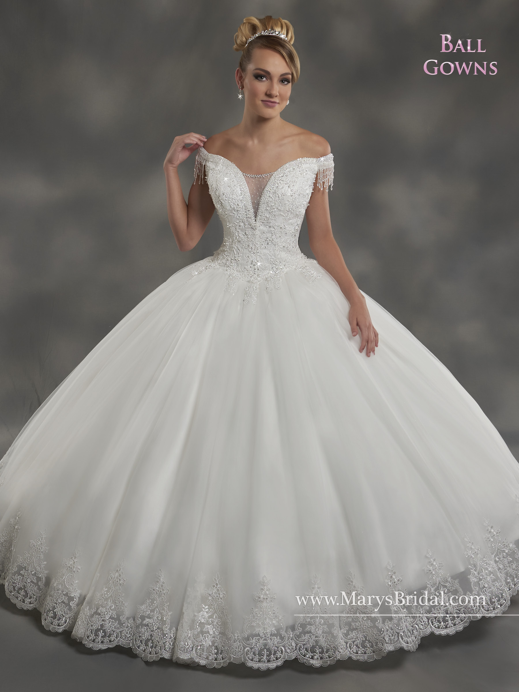 Bridal Ball Gowns Style 2b834 In Pink Or White Color