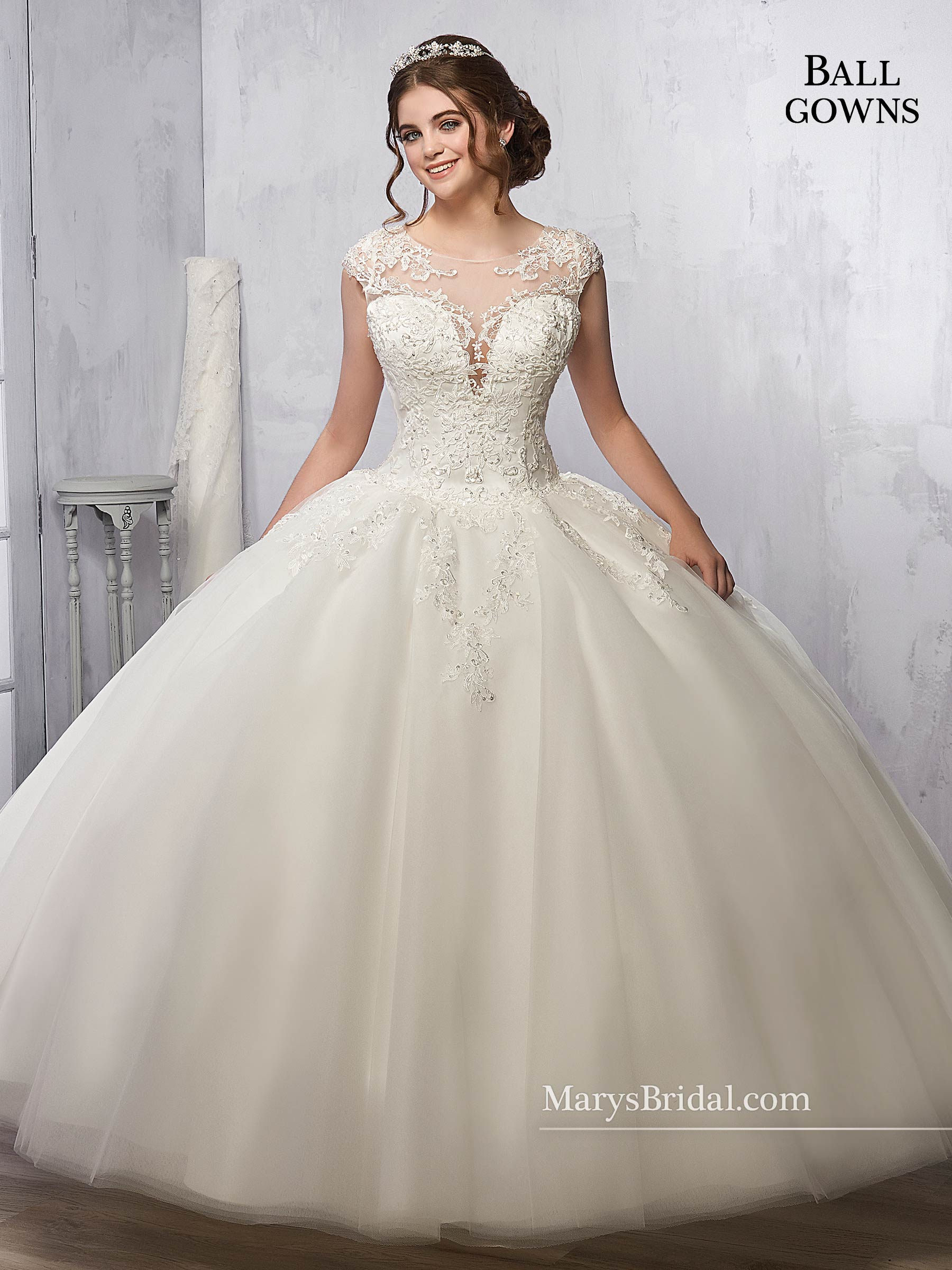 Bridal Ball Gowns | Style - 2B841 in Ivory, White Color