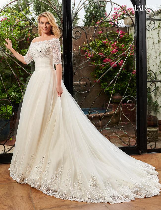 White Color Bridal Dresses - Style - 3Y294