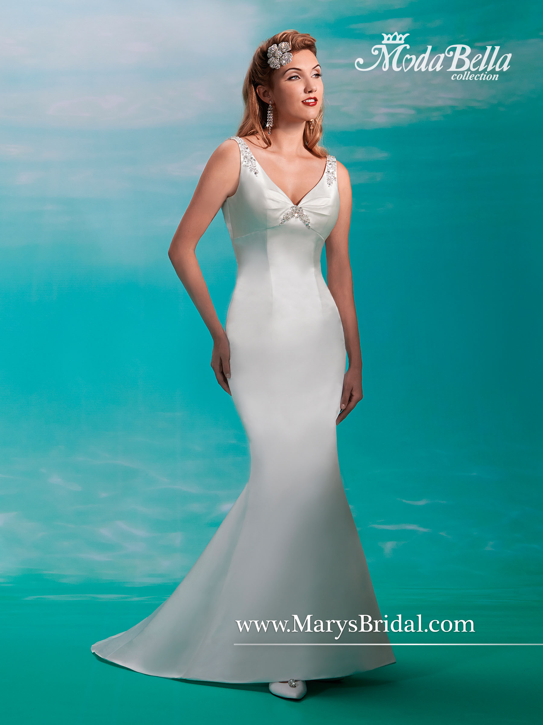 Bridal Dresses | Style - 3Y362 in Ivory/Multi, White/Multi Color