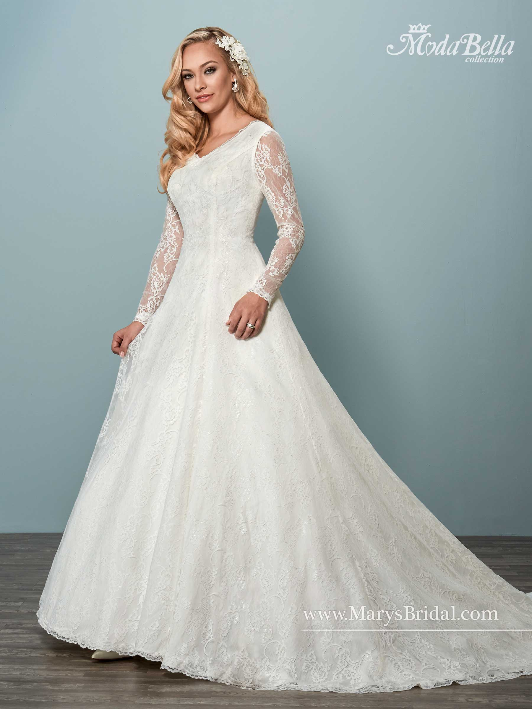 Moda Bella Bridal Dresses | Style - 3Y620 in Ivory or White Color