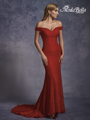 Bright Red Color Bridal Dresses - Style - 3Y685