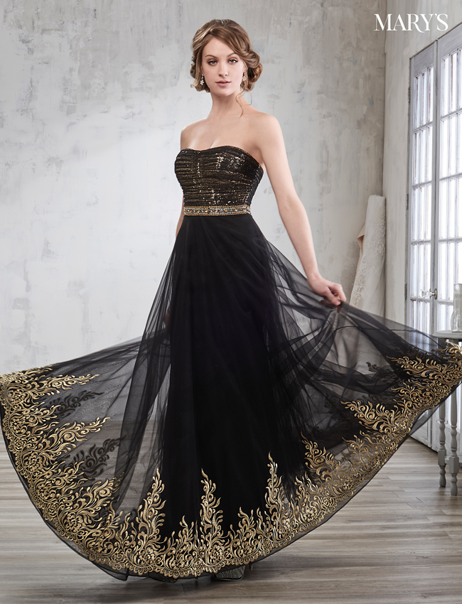 Black Color Bridal Dresses - Style - 3Y701