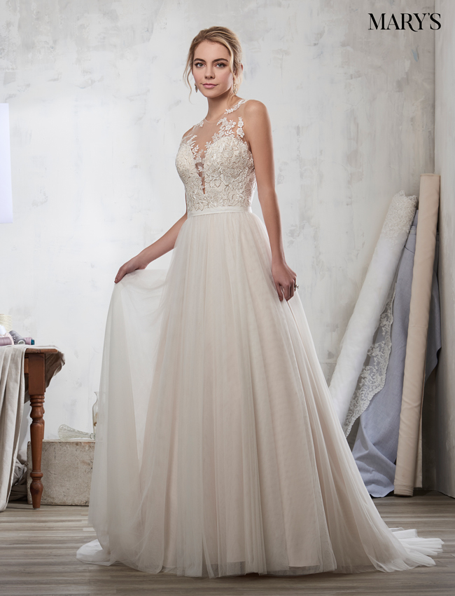 Champagne Color Bridal Dresses - Style - 3Y709
