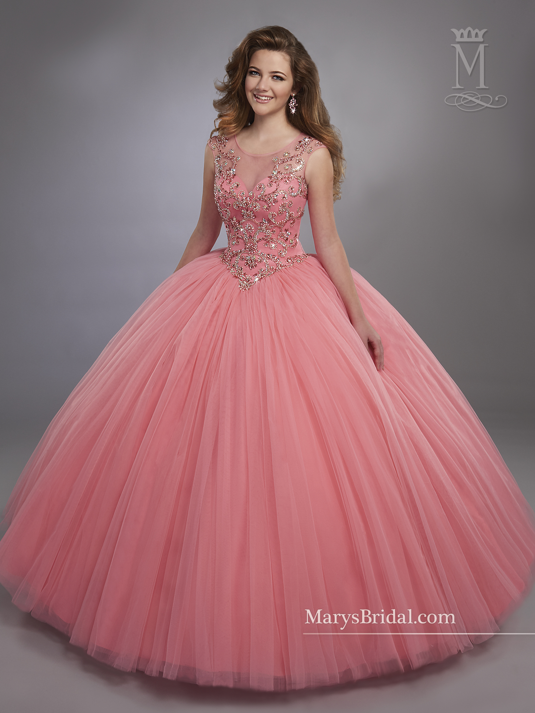 Marys Quinceanera Dresses | Style - 4762 in Calypso, Royal, or White ...