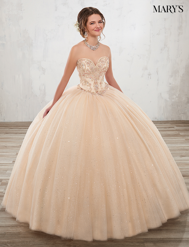 Champagne Color Marys Quinceanera Dresses - Style - 4806