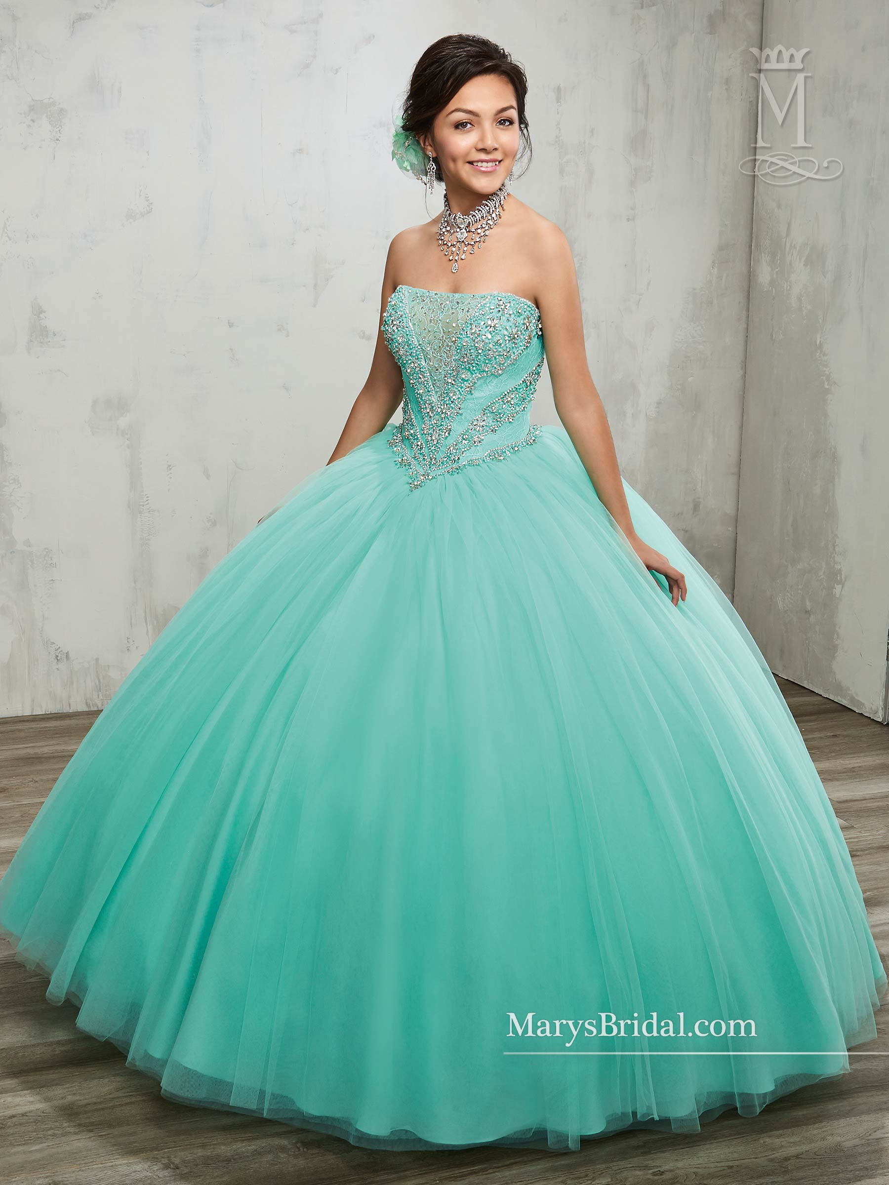 Marys Quinceanera Dresses | Style - 4809 in Blush, Dark Burgundy ...