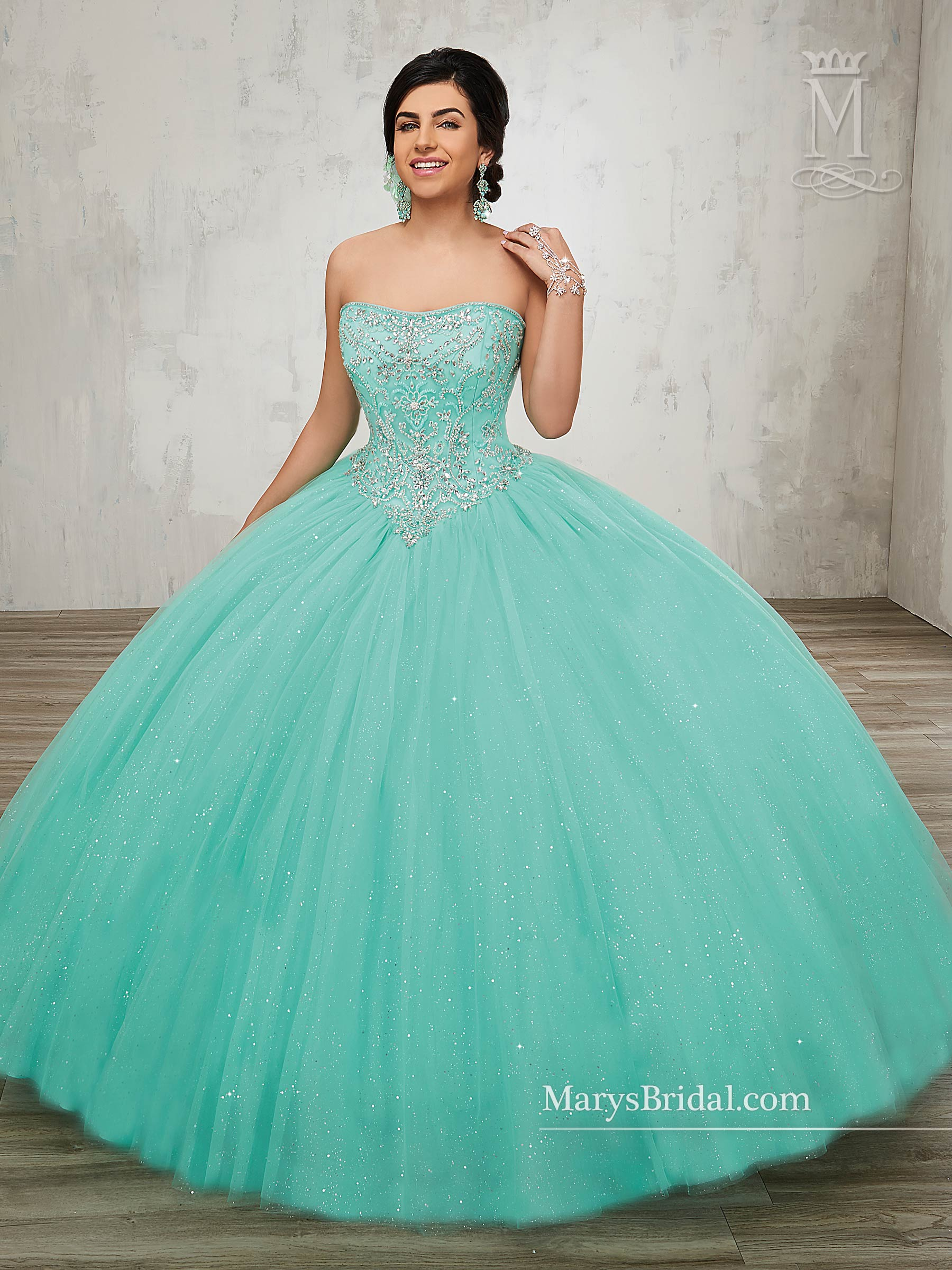 Marys Quinceanera Dresses | Style - 4812 in Blush, Bright Red, Mint ...