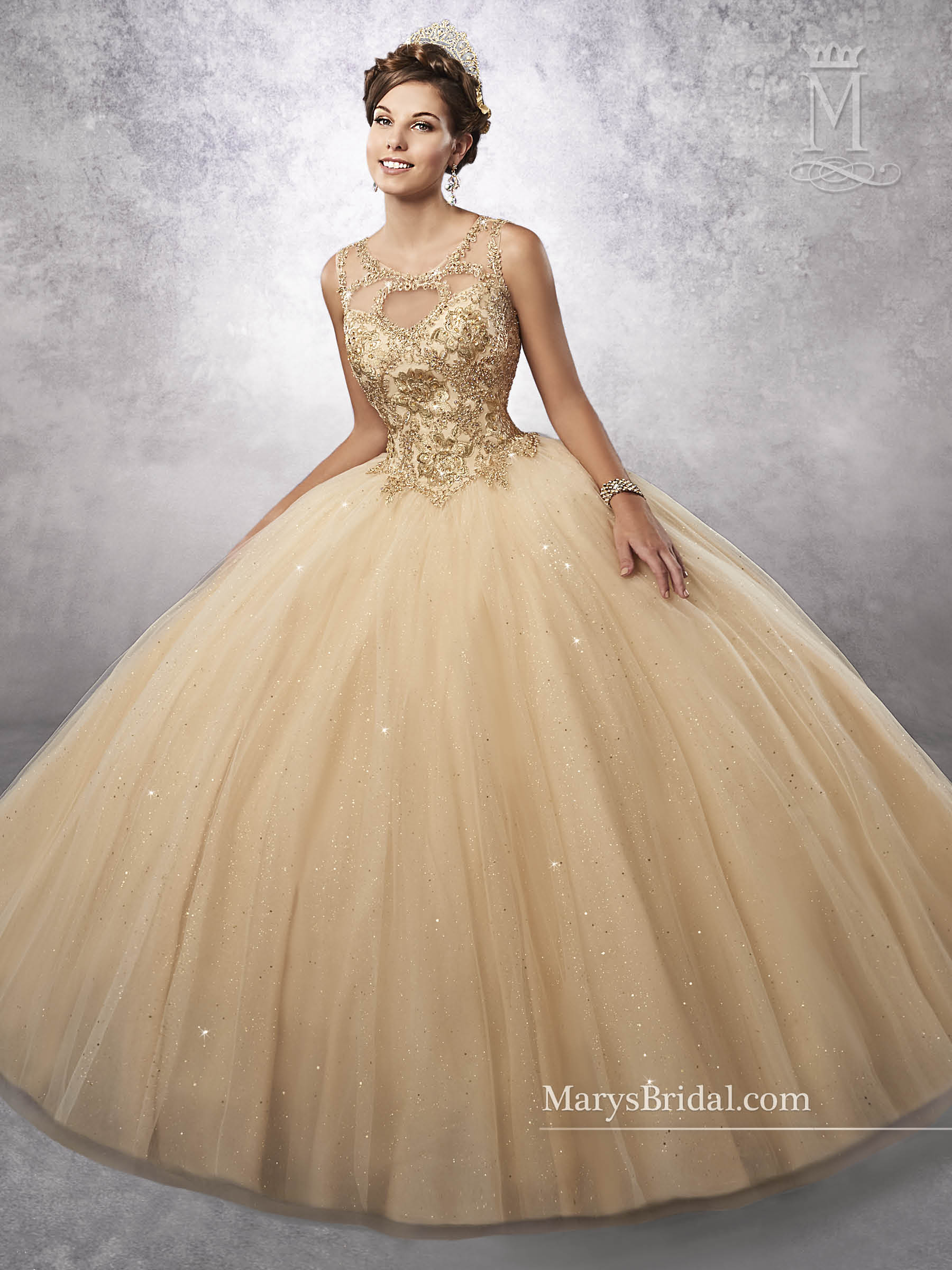 Pink and gold quinceanera dresses forecast to wear for autumn in 2019