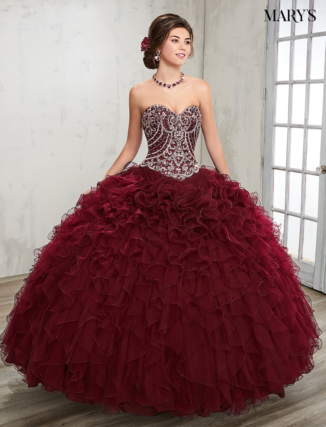 Dark Navy Color Marys Quinceanera Dresses - Style - 4Q504
