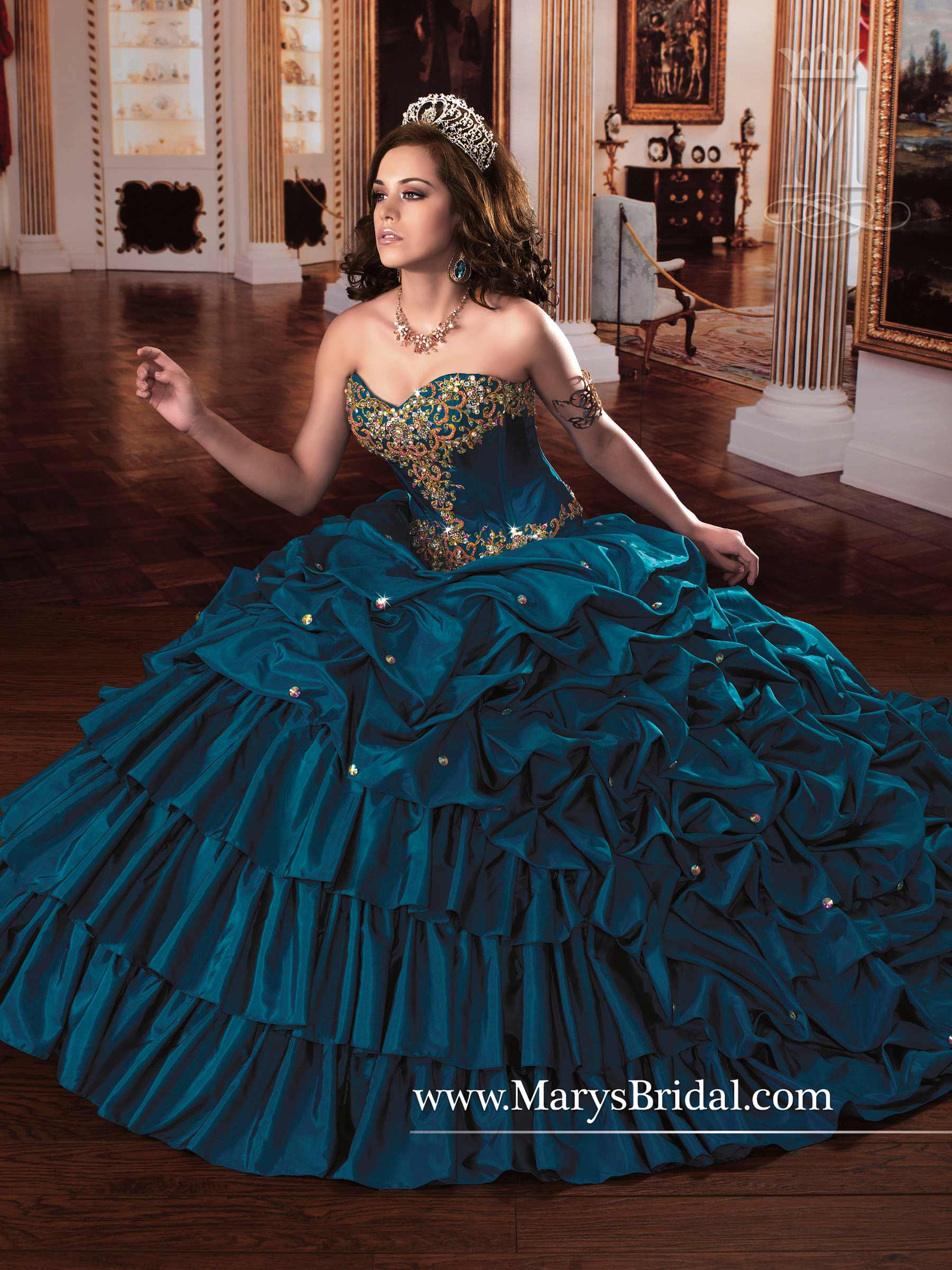 marys quinceanera dresses style 4q851 in bright red