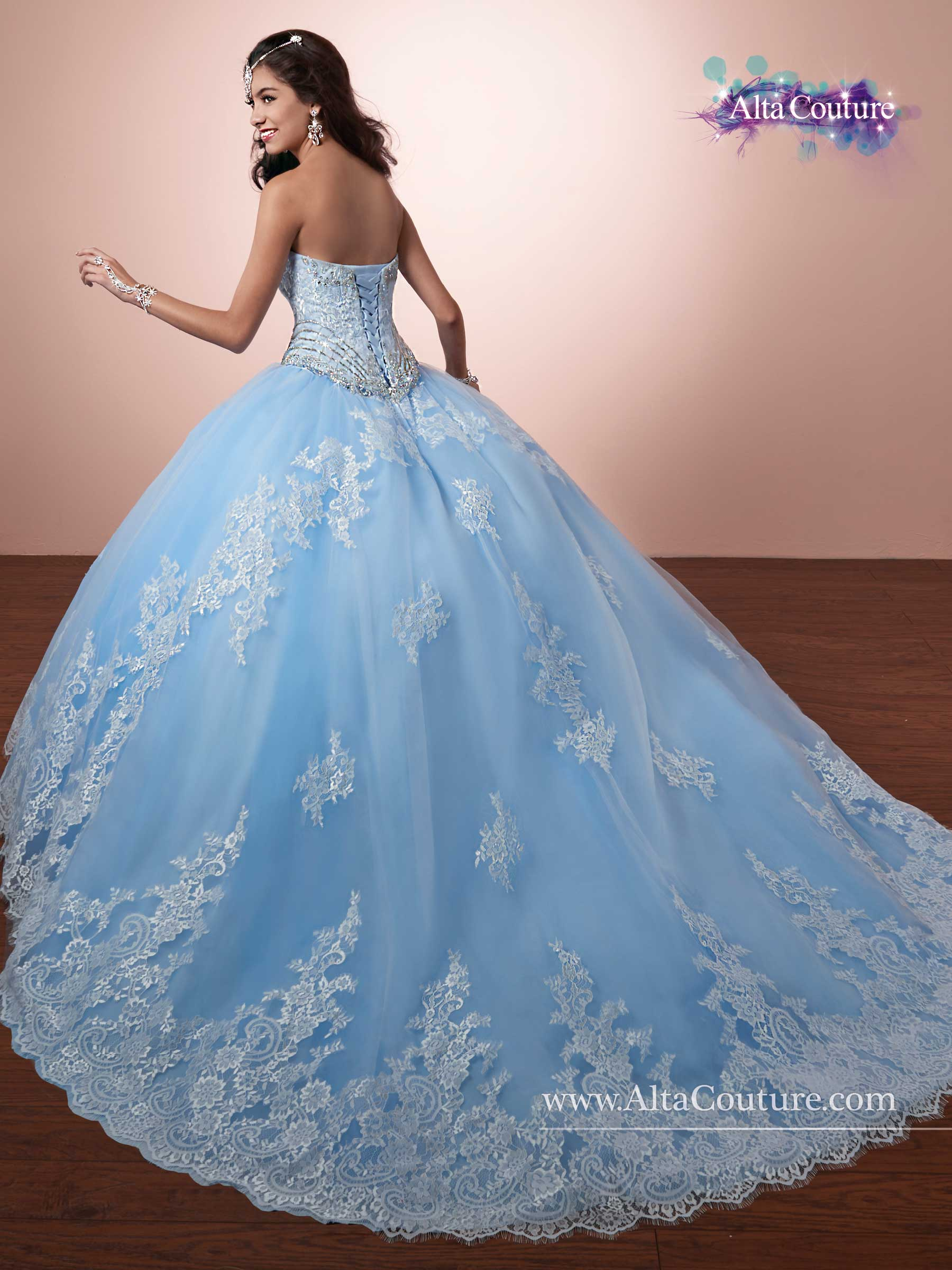 Quinceanera Couture Dresses Style 4t171 In Light Blue