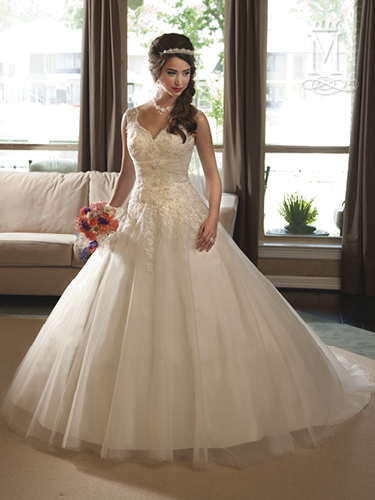 White Color Bridal Wedding Dresses - Style - 6205