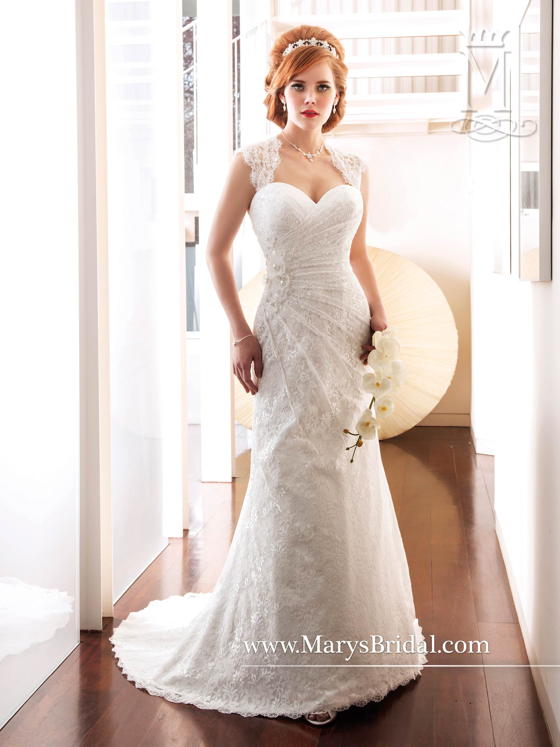 Bridal Wedding Dresses Style 6250 In White Color