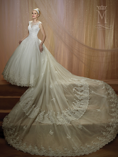 White Color Couture Damour Bridal Dresses - Style - 6454