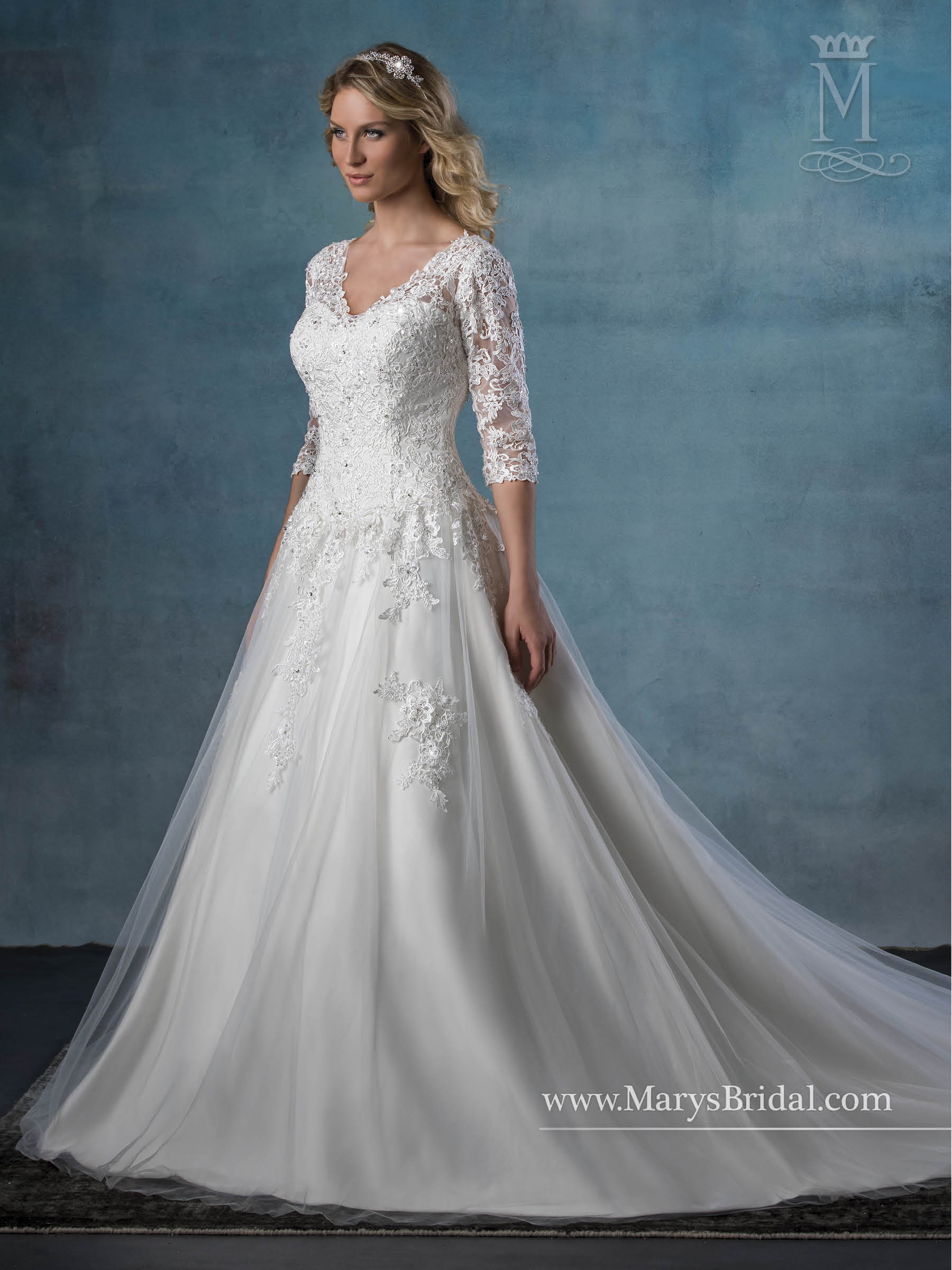 Bridal Wedding Dresses | Style - 6520 in Ivory or White Color
