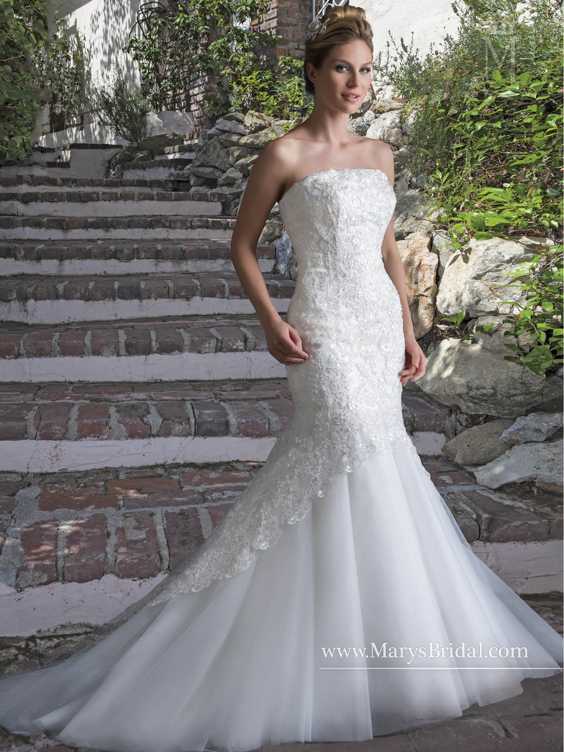 Bridal Wedding Dresses   Style - 6525 in Ivory or White Color