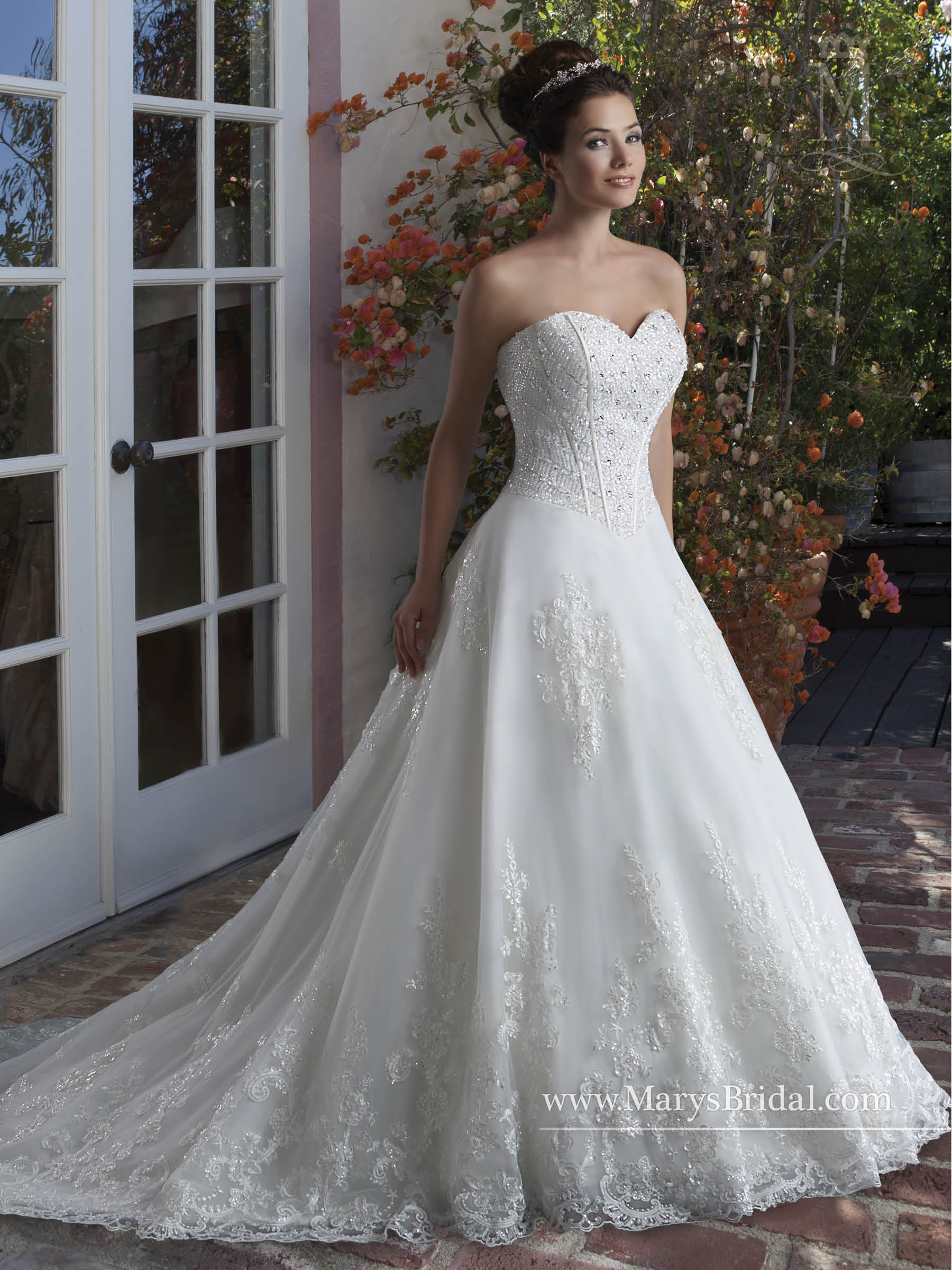 Bridal Wedding Dresses Style 6543 In Ivory Or White Color