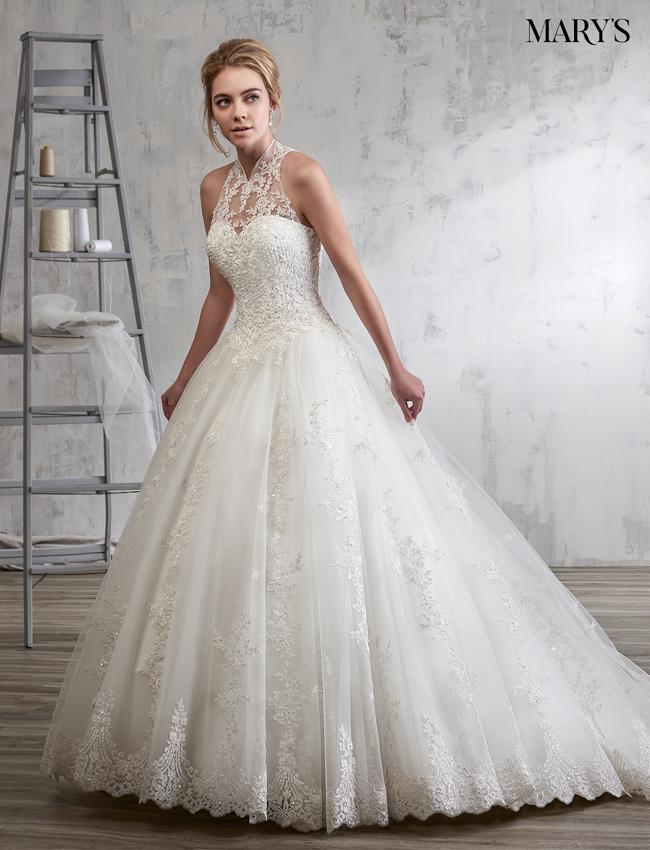 Ivory Color Bridal Wedding Dresses - Style - 6591