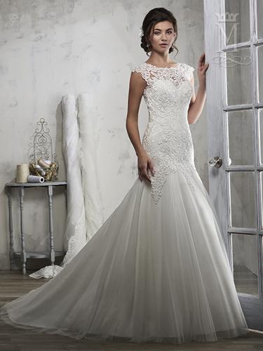 Ivory Color Bridal Wedding Dresses - Style - 6594