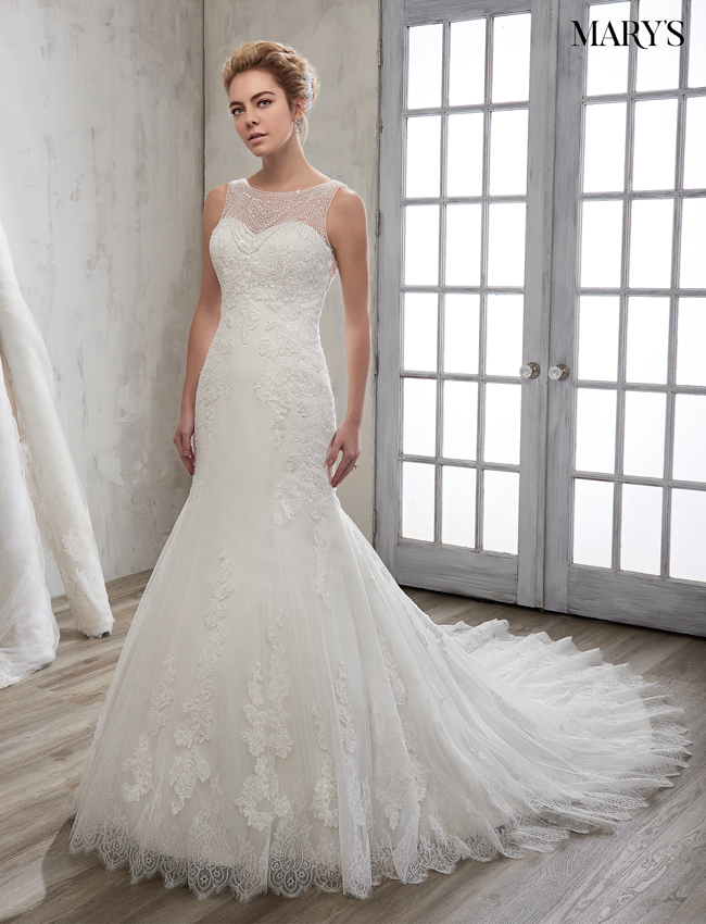 Ivory Color Bridal Wedding Dresses - Style - 6600