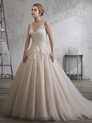 Champagne Color Bridal Wedding Dresses - Style - 6604
