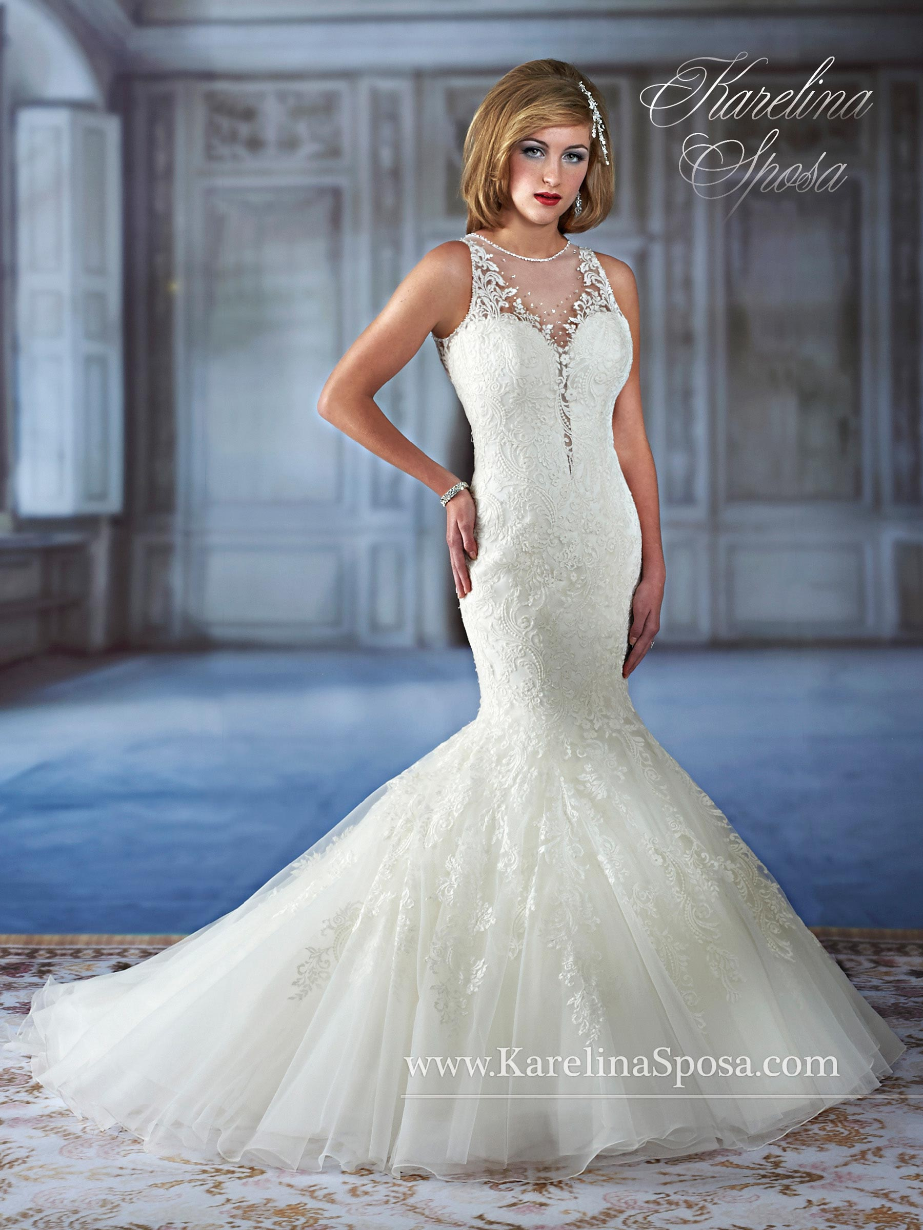 Couture Damour Bridal Dresses | Style - C7972 in White or Ivory Color
