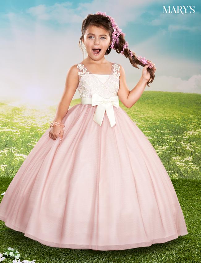 Dusty Rose Color Angel Flower Girl Dresses - Style - F436