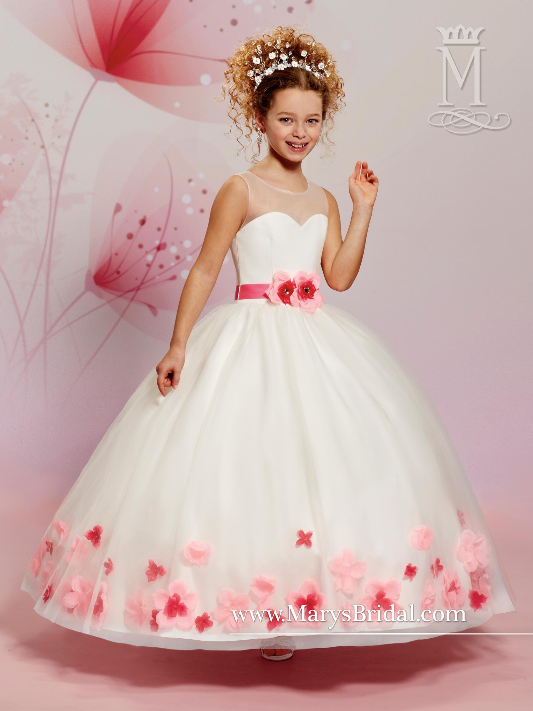 Angel flower girl dresses style f470 in ivorypink white color angel flower girl dresses marys angels style f470 mightylinksfo Gallery