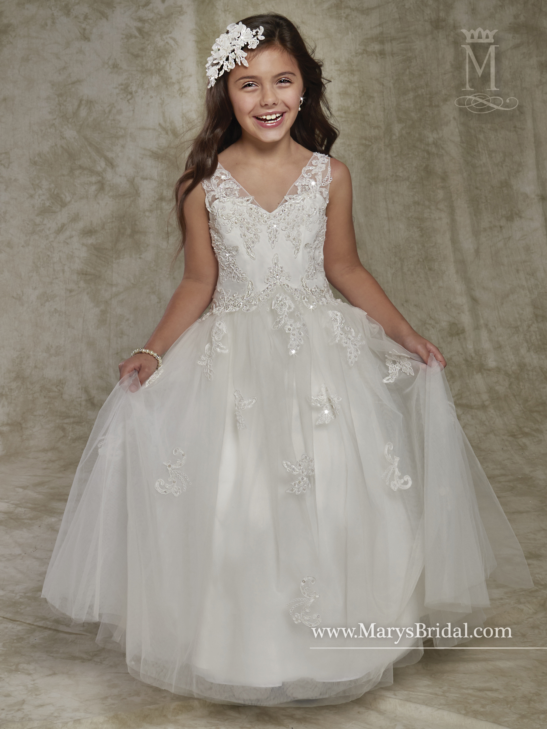Angel Flower Girl Dresses Style F536 In Ivory Or White Color