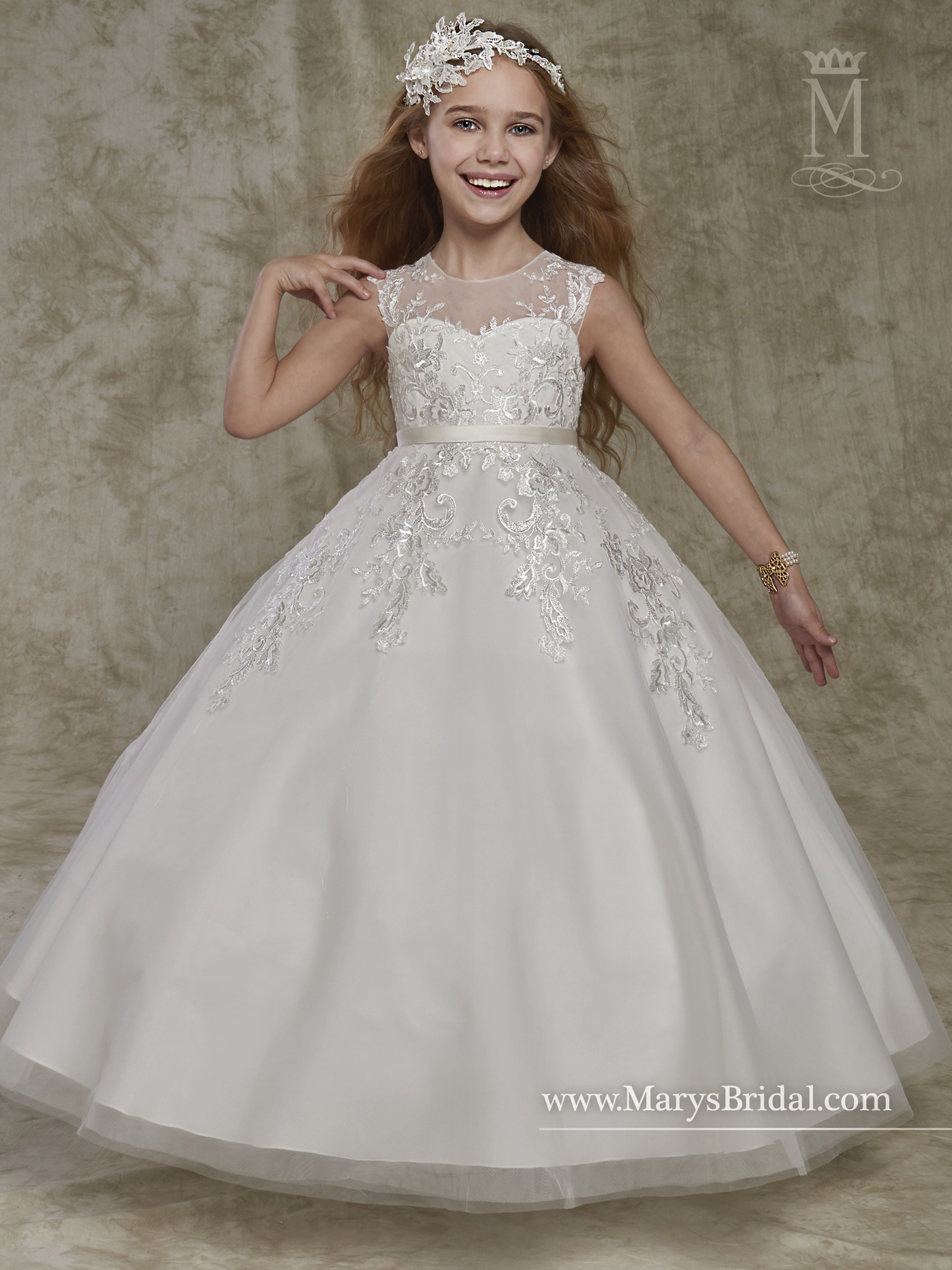 Angel Flower Girl Dresses Style F541 In Ivory Or White