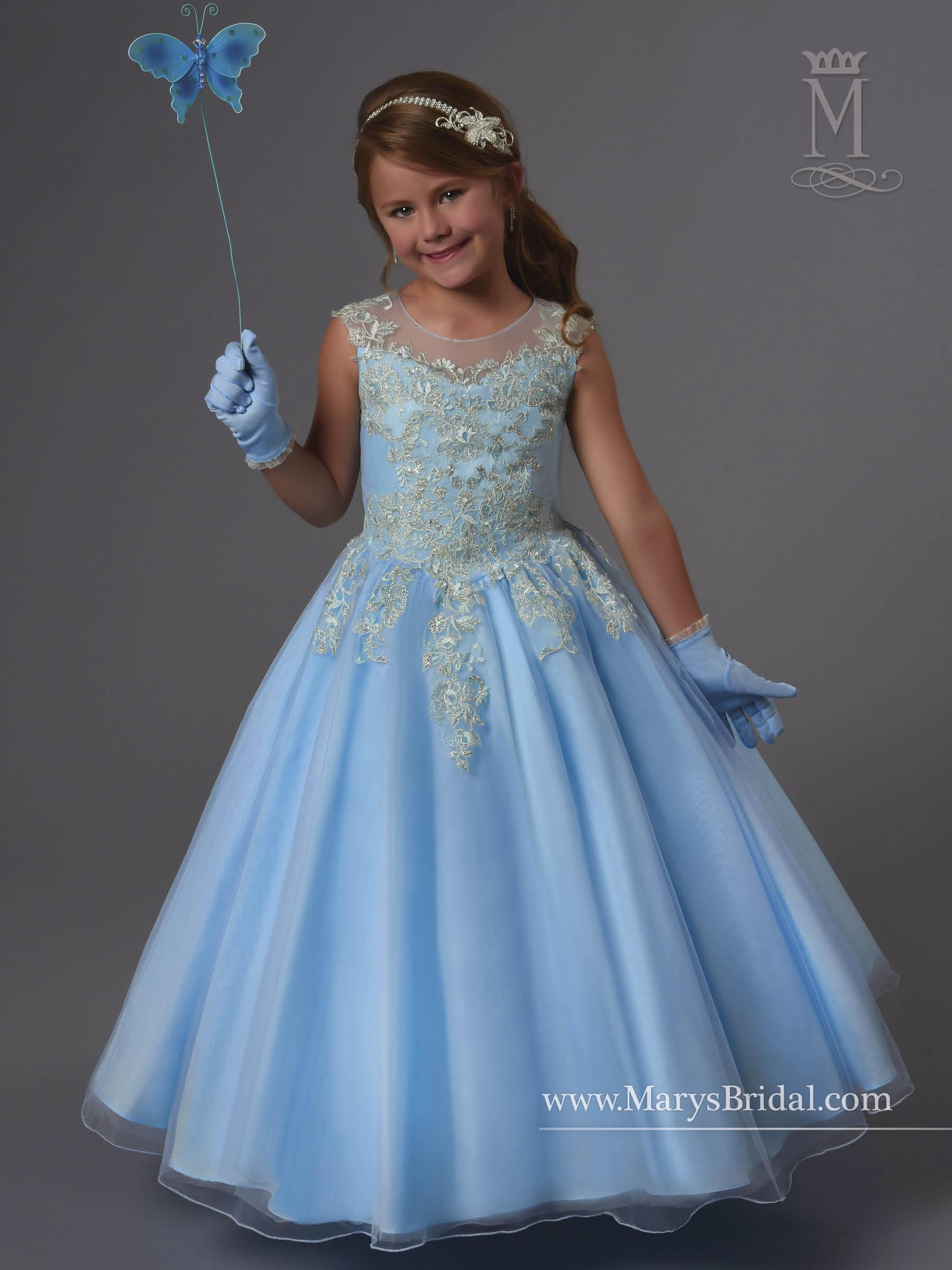 Angel Flower Girl Dresses | Style - F552 in Ivory, Light Blue, or ...