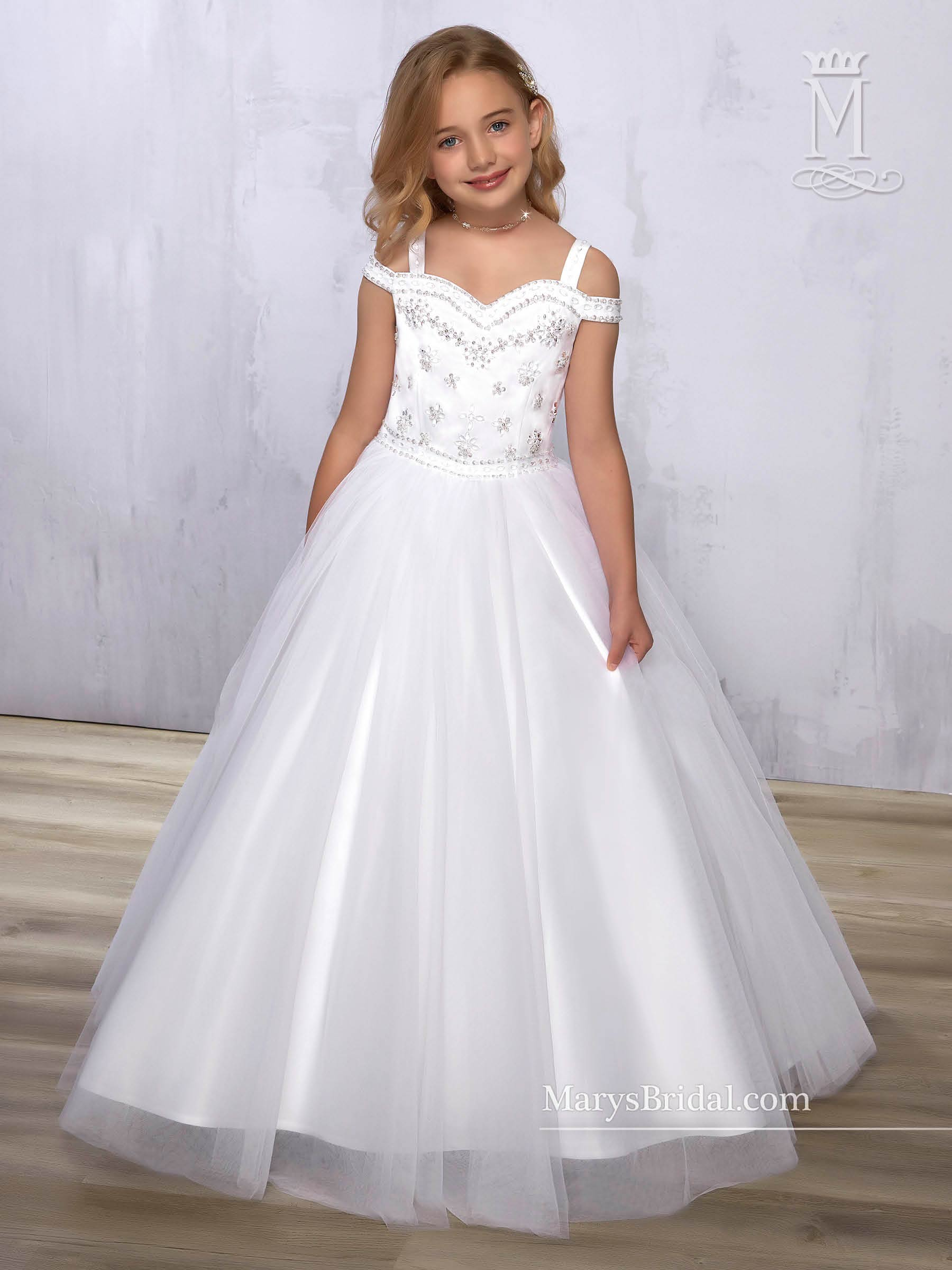 Angel Flower Girl Dresses Style F572 In Ivory White Color