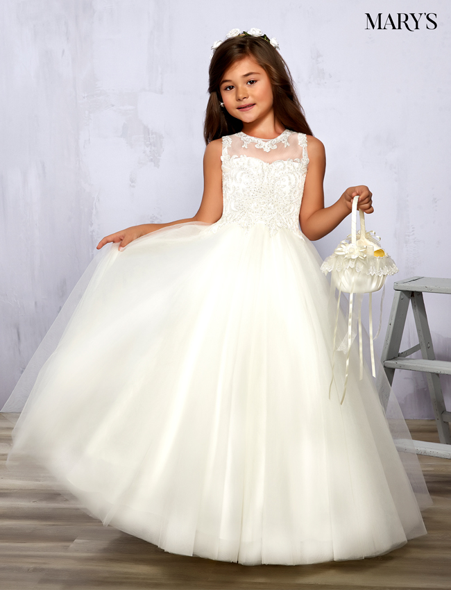 Ivory Color Angel Flower Girl Dresses - Style - F575