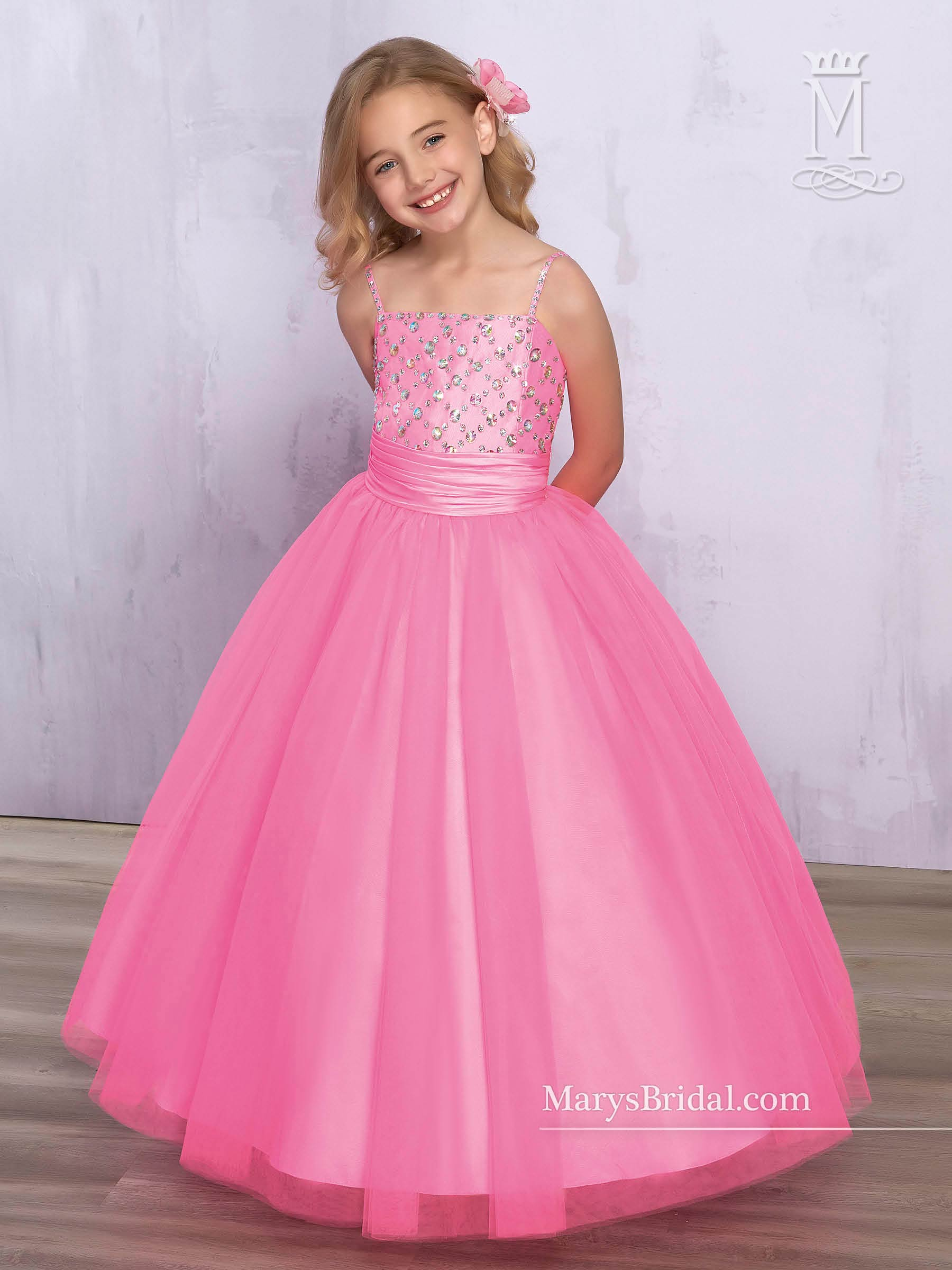 Angel Flower Girl Dresses | Style - F578 in Neon Pink, Ivory, White ...