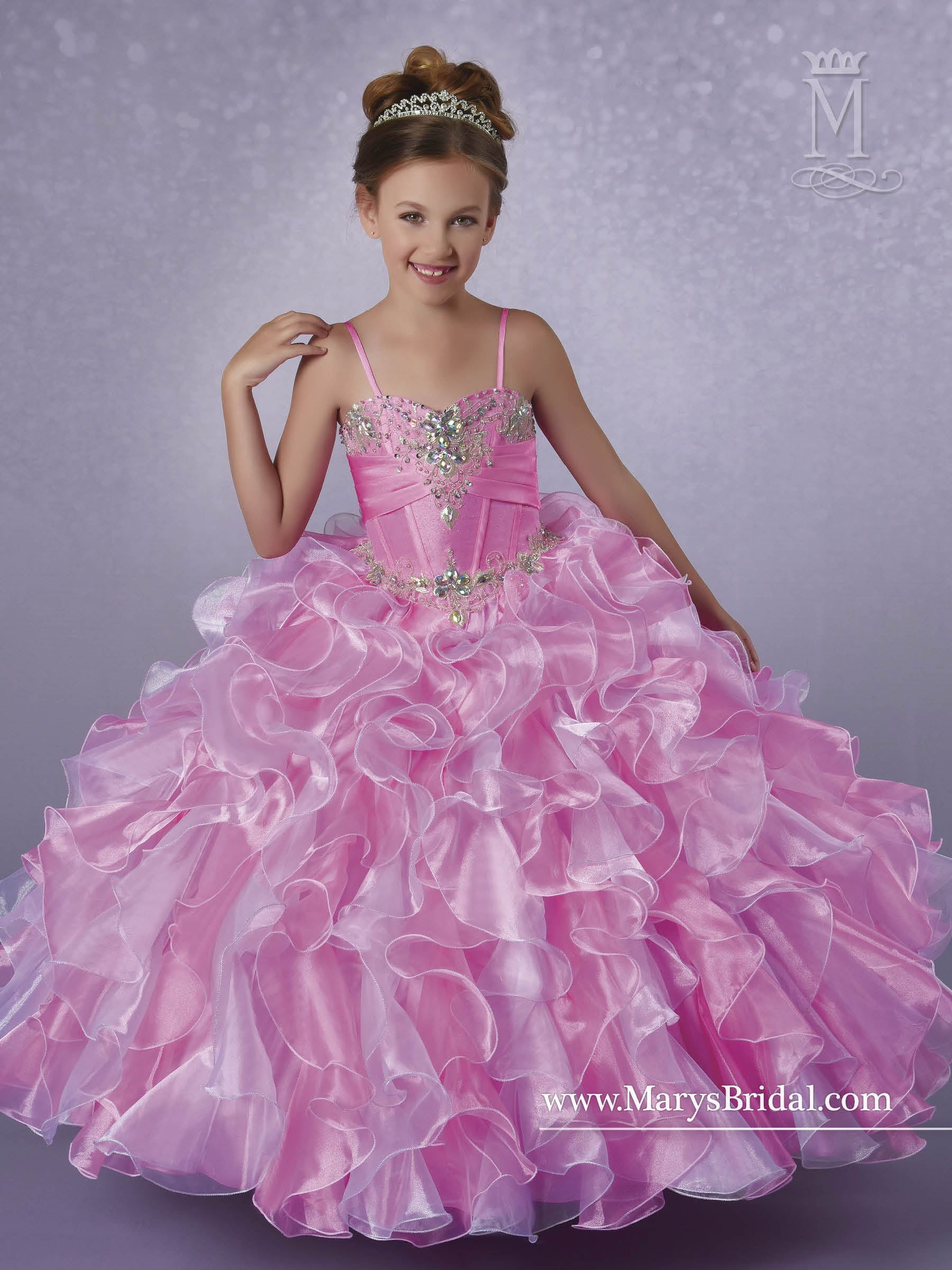 Angel Flower Girl Dresses | Style - FP182 in Hot Pink/White or All ...