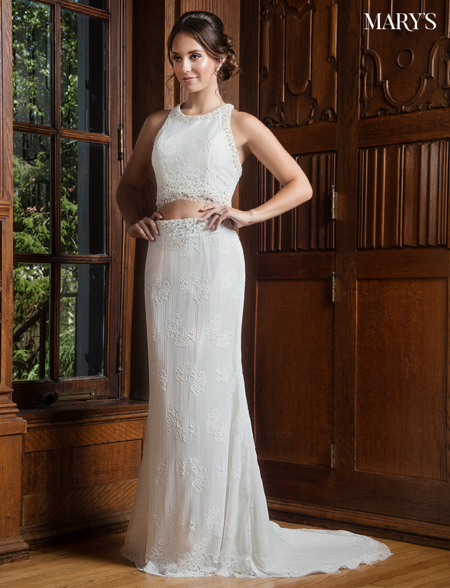 Ivory Color Bridal Wedding Dresses - Style - MB1001