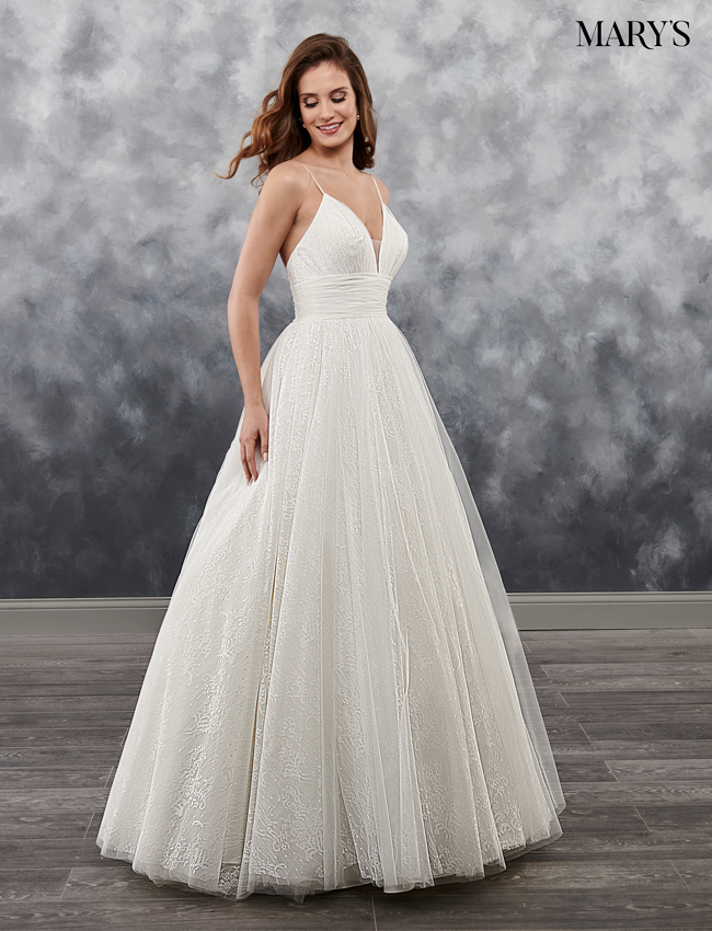 Ivory Color Bridal Wedding Dresses - Style - MB1024