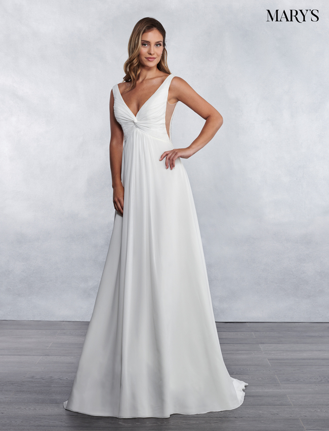 Ivory Color Bridal Wedding Dresses - Style - MB1028