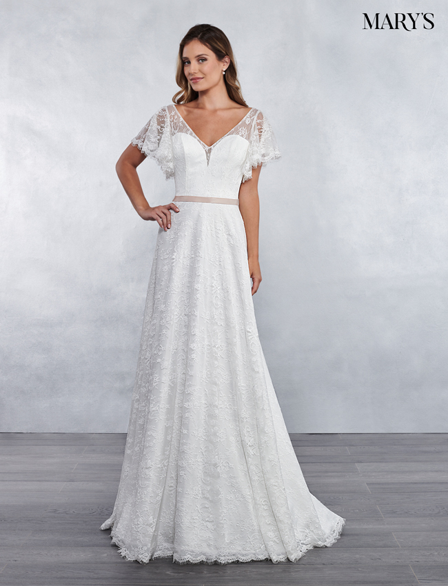 Ivory Color Bridal Wedding Dresses - Style - MB1030