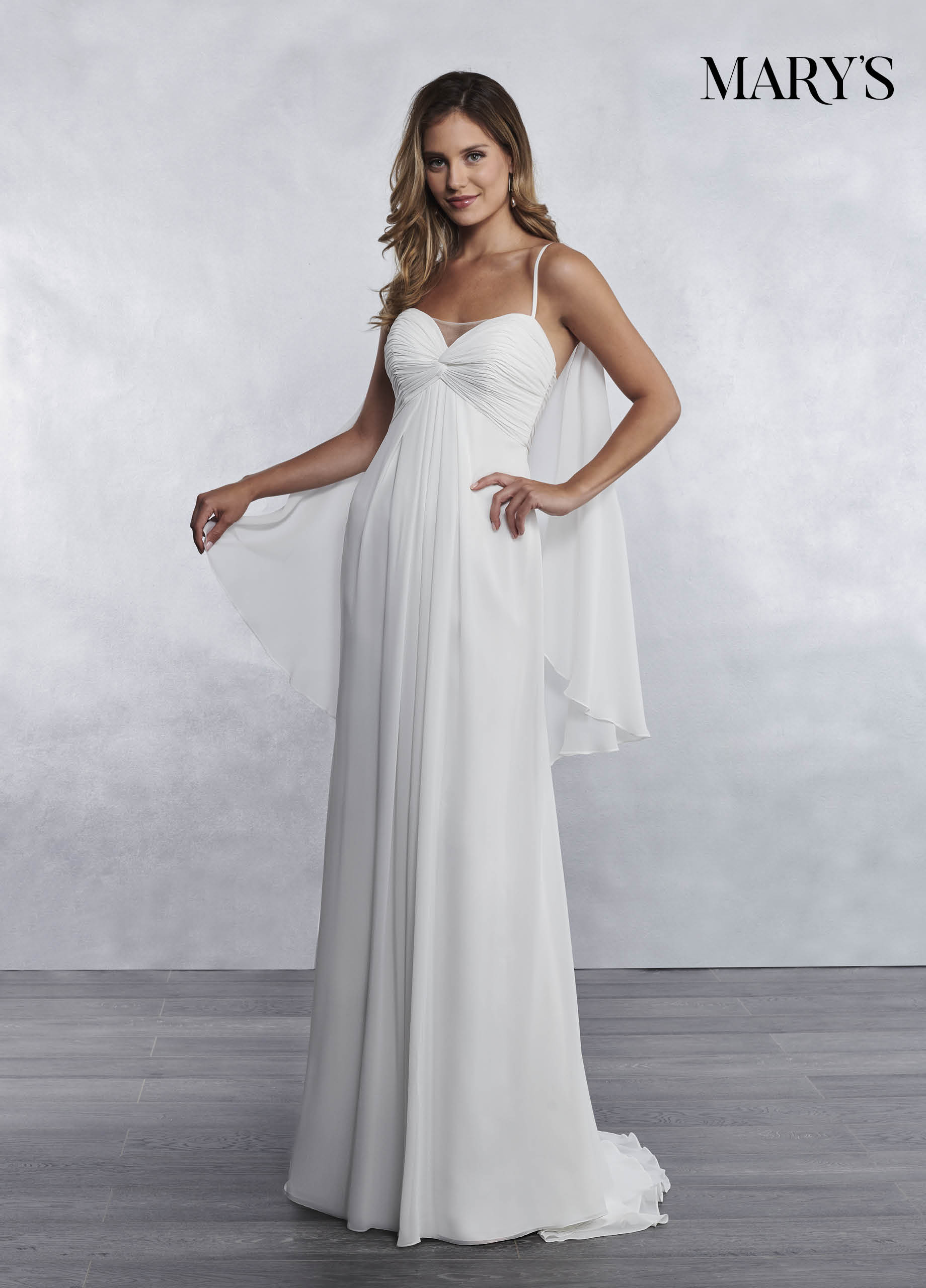 Spaghetti Straps Wedding Dress Twist