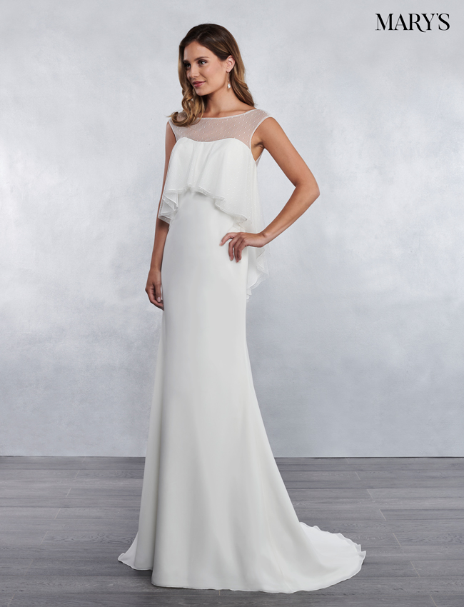 Ivory Color Bridal Wedding Dresses - Style - MB1036