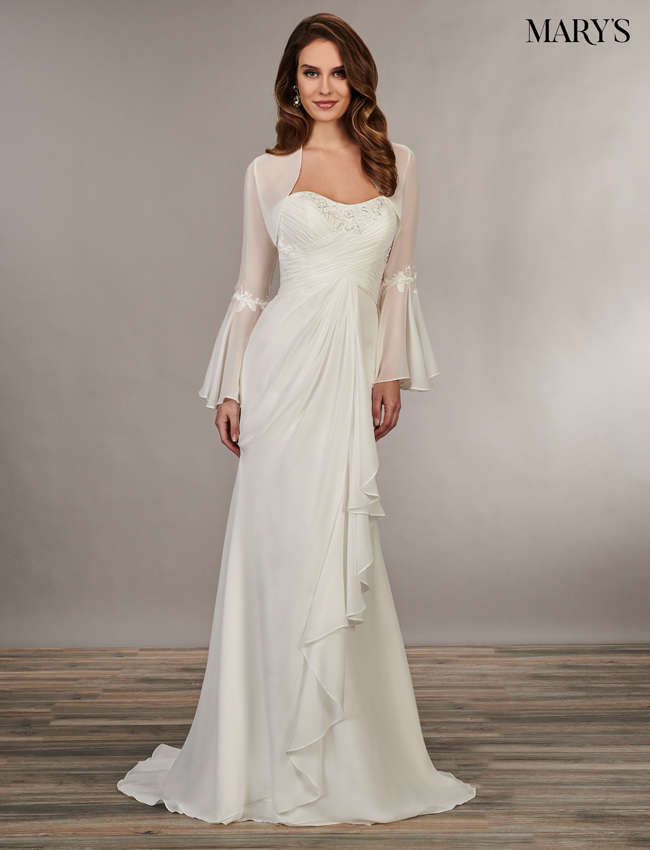 Ivory Color Bridal Wedding Dresses - Style - MB1038
