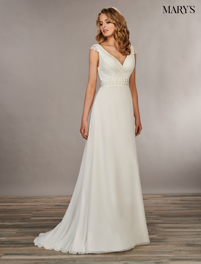 Ivory Color Bridal Wedding Dresses - Style - MB1039