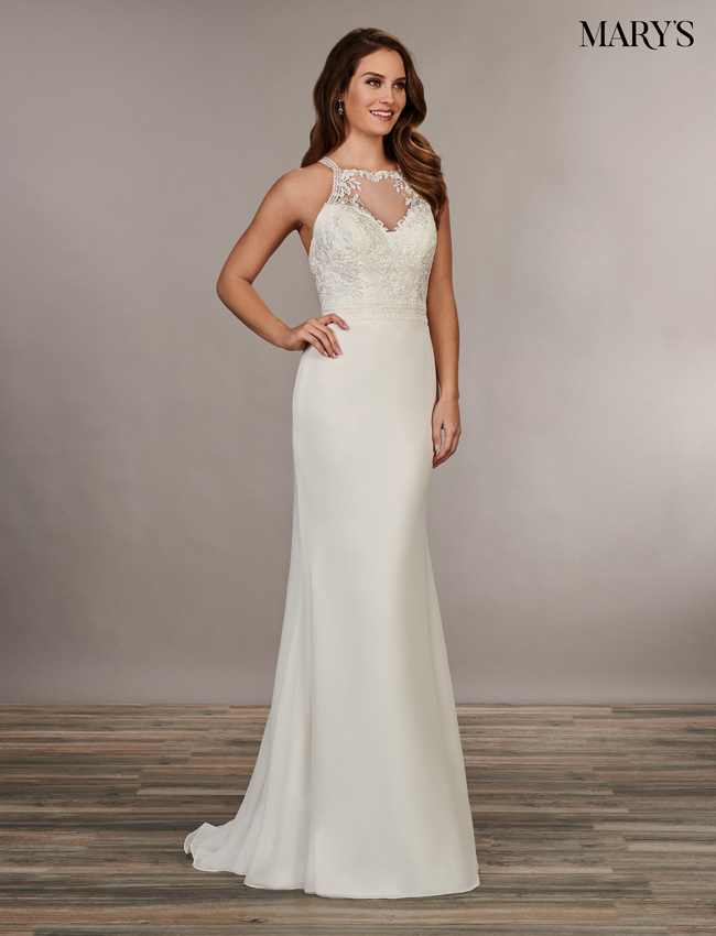 Ivory Color Bridal Wedding Dresses - Style - MB1040