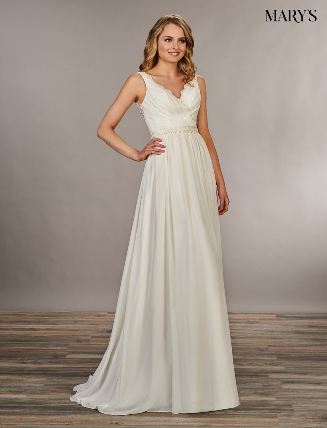 Ivory Color Bridal Wedding Dresses - Style - MB1043