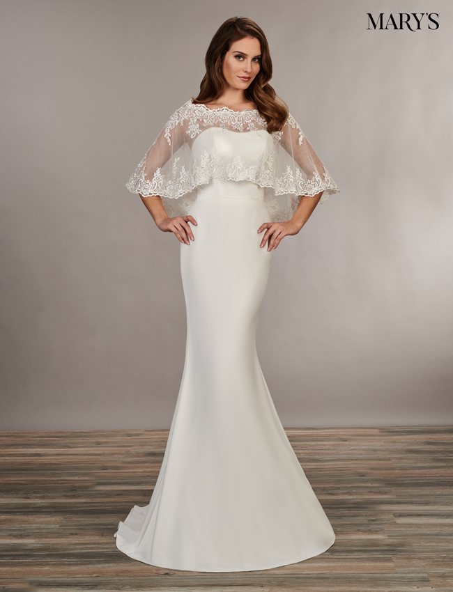 Ivory Color Bridal Wedding Dresses - Style - MB1044