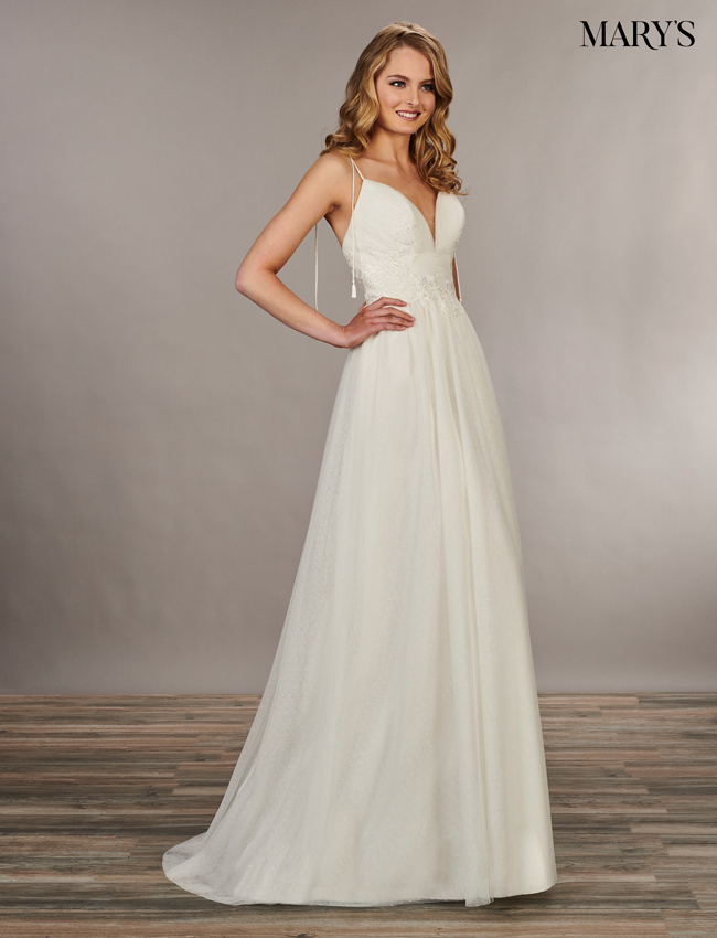 Ivory Color Bridal Wedding Dresses - Style - MB1045